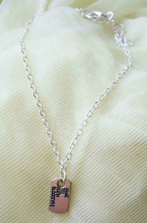 Anklet silver-colored metal