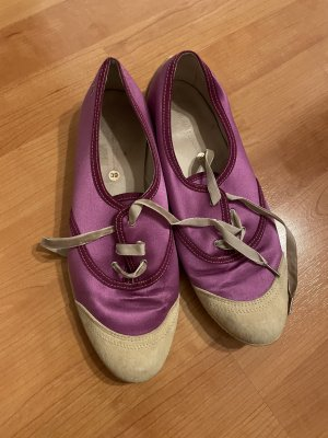 Sonia Rykiel Lace Shoes violet-cream leather