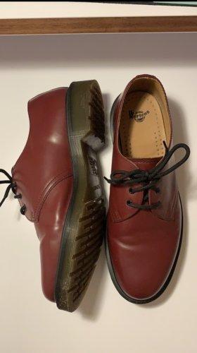 Dr. Martens Chaussures à lacets rouge carmin-noir
