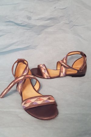 Costume National Strapped Sandals multicolored