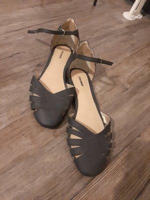 Graceland Strapped Sandals black-anthracite
