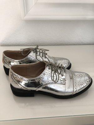 Asos Zapatos de marinero color plata