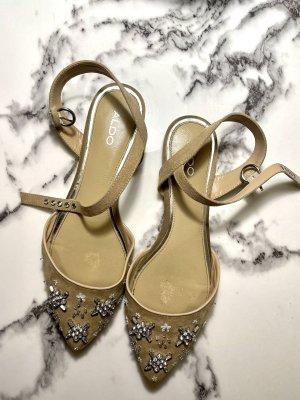 Flache Schuhe Ballerinas mit Strassteinen Gr. 40