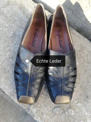 flache Schuhe. echte Leder reflexan gr 39