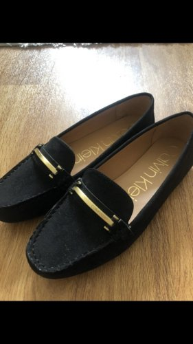 Calvin Klein Slip-on Shoes black-gold-colored