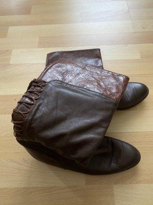 Buty w stylu western ciemnobrązowy-brązowy