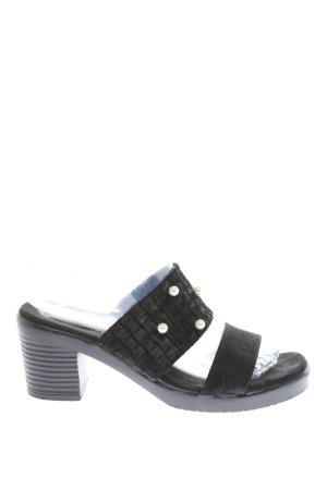 Fladeo Riemchen-Sandaletten schwarz Casual-Look