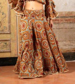 Antica Sartoria Harem Pants multicolored cotton