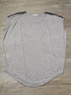 Flamant Rose Shirt T-Shirt oversized grau taupe nude Strass