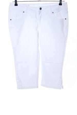 Flame Jeans 3/4 blanc style décontracté