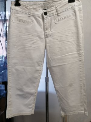 Flame Jeans a 3/4 bianco
