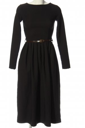 Flame Sukienka o kroju litery A czarny Elegancki