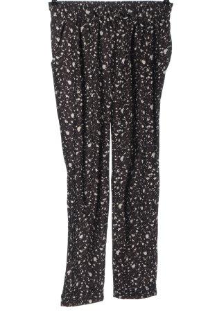 Flame Pantalon «Baggy» brun-blanc motif abstrait style décontracté