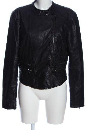 Flame Biker Jacket black casual look