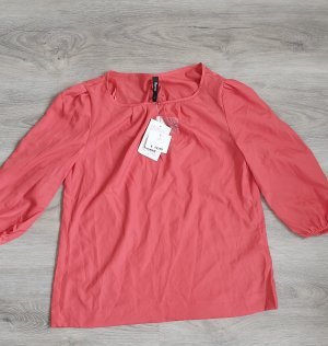 Flame Blouse topje zalm-rood