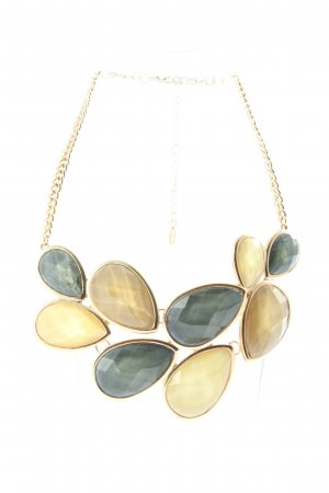 Flame Collar estilo collier color oro-azul look casual