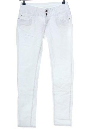 Flame Pantalón de cinco bolsillos blanco look casual