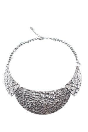 Flame Collana argento con glitter