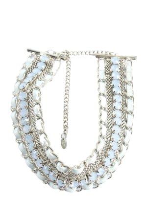 Flame Halskette silberfarben-blau Elegant