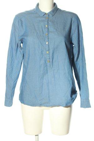 Flame Hemd-Bluse blau Casual-Look