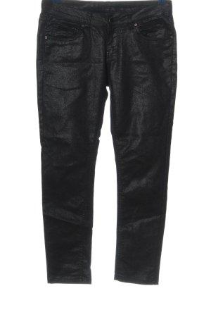 Flame Pantalon taille basse noir moucheté style décontracté