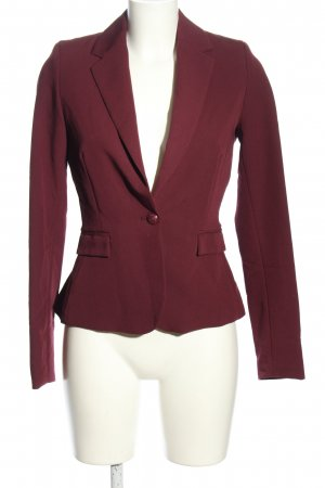 Flame Jersey Blazer red business style