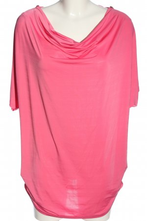 Flame Kurzarm-Bluse pink Casual-Look