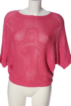 Flame Blouse à manches courtes rose style décontracté