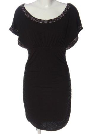 Flame Sukienka z krótkim rękawem czarny Elegancki