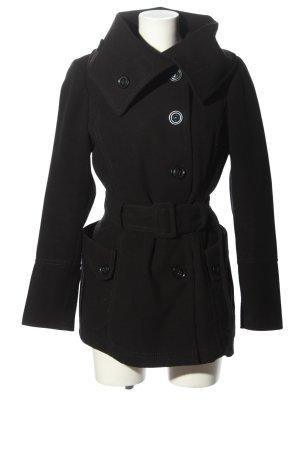 Flame Manteau court noir style décontracté