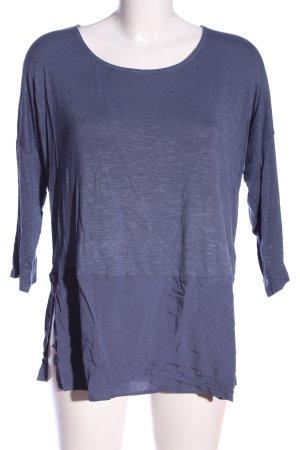 Flame Langarm-Bluse blau meliert Casual-Look