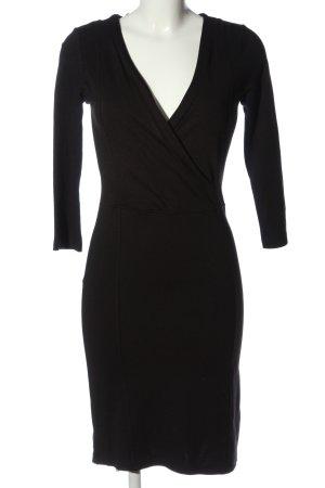 Flame Sukienka z długim rękawem czarny W stylu casual