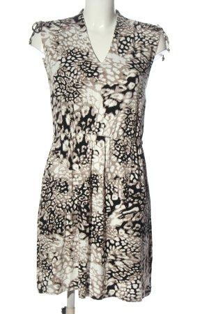 Flame Sukienka z krótkim rękawem Abstrakcyjny wzór W stylu casual