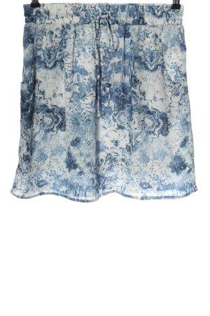 Flame Minigonna blu-bianco stampa integrale stile casual