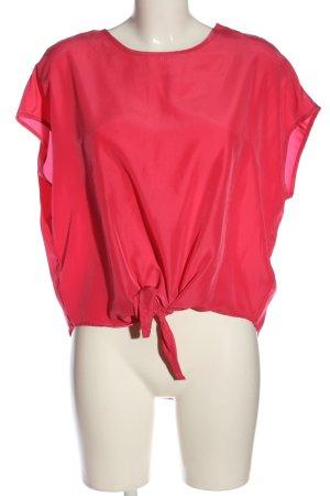 Flame Bluzka oversize czerwony W stylu casual