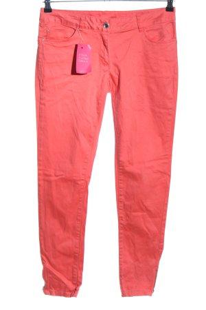 Flame Spodnie rurki czerwony W stylu casual
