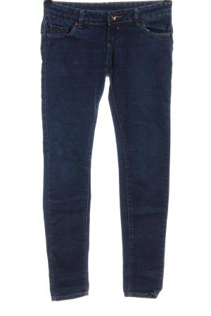 Flame Jeans cigarette bleu style décontracté