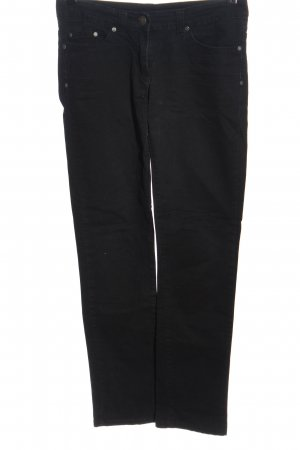 Flame Jeans cigarette noir style décontracté