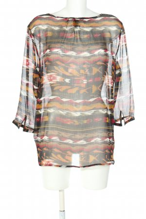 Flame Schlupf-Bluse Allover-Druck Casual-Look