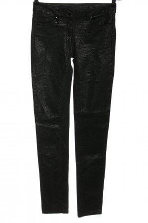 Flame Skinny Jeans schwarz Allover-Druck Casual-Look