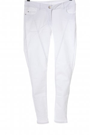 Flame Jeans skinny blanc style décontracté
