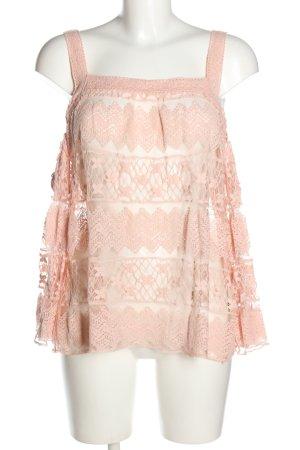 Flame Spitzenbluse pink Elegant