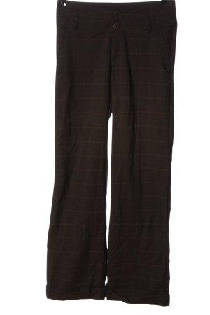 Flame Pantalon en jersey motif à carreaux style décontracté