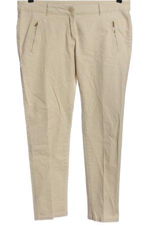 Flame Spodnie materiałowe w kolorze białej wełny W stylu casual