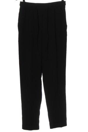 Flame Spodnie materiałowe czarny W stylu casual