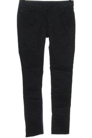 Flame Jeans slim fit nero stampa integrale stile casual