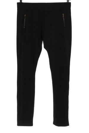 Flame Stretch broek zwart-goud casual uitstraling