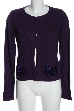 Flame Cardigan tricotés violet style décontracté