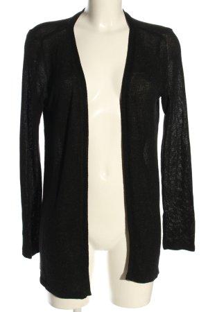 Flame Veste en tricot noir style décontracté