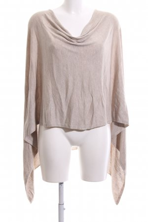 Flame Knitted Poncho oatmeal-cream casual look